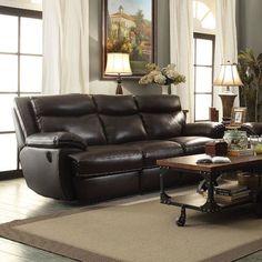 Red Barrel Studio Hughes Leather Sofa