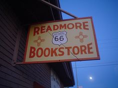 Readmore Bookstore sign, Route 66 by Mark_Baratelli, via Flickr