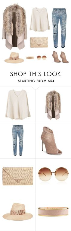 """Whoo"" by rojichka ❤ liked on Polyvore featuring MANGO, Dolce&Gabbana, JNB, Linda Farrow, Eugenia Kim and Balmain"