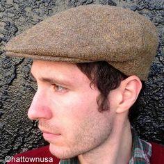 86dee457c9e New Donegal Tweed Irish Ivy Driving Cap Light Brown Twill Wool Jonathan  Richard Golf Cabbie Newsboy