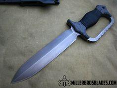 Miller Bros. Blades M-9 Custom. This model is available in Z-Wear PM, CPM 3V, CPM S35VN, Z-Tuff PM and 5160 steels Miller Bros. Blades Custom Handmade Knives, Swords & Tomahawks.
