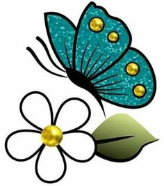 things to draw Applique Patterns, Beading Patterns, Butterfly Drawing, Painted Flower Pots, Flower Doodles, Beading Projects, Paint Designs, Fabric Painting, Stone Painting