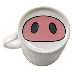 Cute pig nose mug.