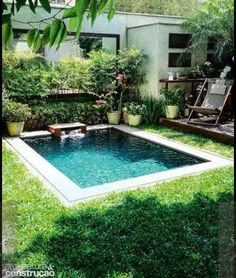 Small pools for small backyards pin by on dream house backyard swimming pools and small pools small backyard pool ideas Small Inground Pool, Building A Swimming Pool, Small Swimming Pools, Small Backyard Pools, Small Pools, Swimming Pools Backyard, Swimming Pool Designs, Backyard Landscaping, Landscaping Ideas