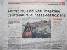 Un joli article du Progrès sur l'équipe du TétrasLire dans son édition du 31 août 2016.  Le TétrasLire, la revue des 8-12 ans qui donne des ailes à la lecture, est en vente sur www.albaverba.fr ! abonnez-vous en ligne ou commandez un numéro !