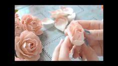 Нежная роза из фоамирана мастер класс. Foam tutorial