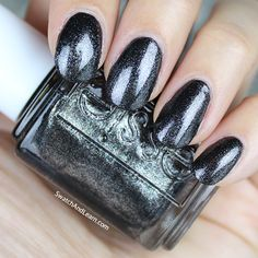"""Essie """"Tribal Text-Styles"""" nail polish/shellac from its Summer 2016 Collection. Pretty onyx with micro-shimmers!"""