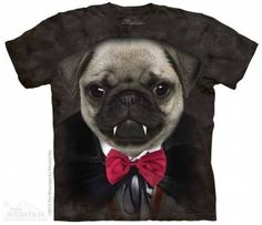 The Mountain-Shirts Hunde Mops - Vampire Pug