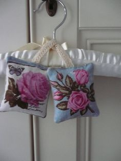 Two Hanging Lavender Sachets in a Vintage Style Botanical Fabric, Organic Dried Lavender from Provence, Drawer Freshener, Scented Gift Dreadlock Accessories, Boho Accessories, Handmade Accessories, Lavender Bags, Lavender Sachets, Wedding Lavender, Christmas Gift Inspiration, Unique Gifts, Handmade Gifts