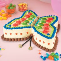 Butterfly Birthday Cake...MY DAUGHTER LOVES ANYTHING BUTTERFLY..GIVES ME AN IDEA FOR HER A BIRTHDAY CAKE!