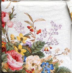 Lovely paper napkin for crafts including decoupage. 2 LUNCH size napkin, 13x13 when opened. Here are some suggestions to decorate or use your