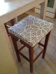 These Barstool Covers I Created For A Client Has Discrete Velcro Straps At  The Sides To