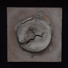 From the new 'What Ripens In Silence' series  polyurethane varnish, river mud and marble dust