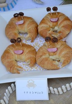 Make croissant crab sandwiches for the kids! Check out our other fun kids snacks recipes too: http://www.under5s.co.nz/shop/Articles/Food+%26+Feeding+Time/Recipes.html
