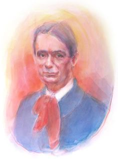 Rudolf Steiner.  Painting by Christopher Guilfoil.