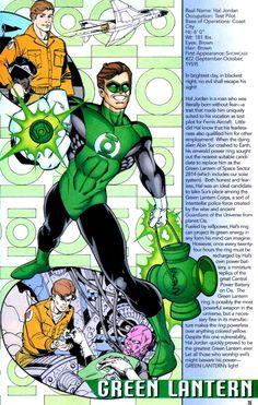 Green Lantern Hal Jordan Info Page - Claude St. Aubin & Tom McCraw