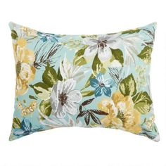 One of my favorite discoveries at ChristmasTreeShops.com: Gray Floral Indoor/Outdoor Oblong Throw Pillow