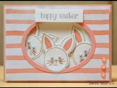 Easter Rabbit Photobomb Card - JanB UK Stampin' Up! Demonstrator Indepen...