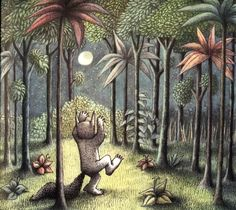 Setting - Where The Wild Things Are - Forrest, Dark night sky, Moonlight. How does it make you feel?