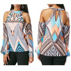 $6.89 - Women Girl O Neck Off Shoulder Retro Geometry Blouse Bohemia Tops Blouse T-Shirt #ebay #Fashion