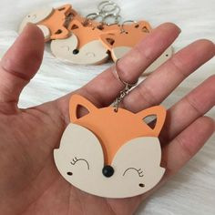 Wooden Keychain, Diy Keychain, Laser Cutter Ideas, Fabric Stamping, Party In A Box, Woodland Party, Woodland Animals, Baby Decor, Baby Birthday