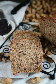 Black Rice Bread with Peanuts