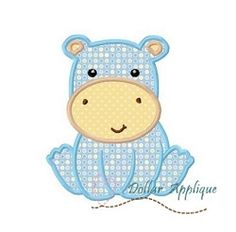 Hippo Applique - 3 Sizes! | What's New | Machine Embroidery Designs | SWAKembroidery.com Dollar Applique