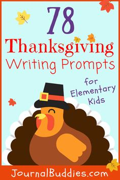 Give your students something to be thankful for during Thanksgiving time with this list of 78 new elementary writing and journal prompts, especially for the holiday. Holiday Writing, Thanksgiving Writing, Thanksgiving Ideas, Writing Prompts For Kids, Writing Practice, Writing Help, Writing Skills, Creative Writing, Writing Tips