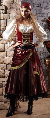 Womens Pirate Wench Caribbean Halloween Costume | eBay