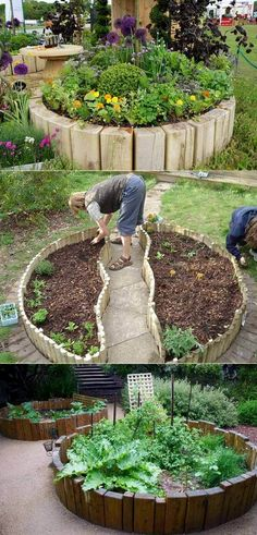 Vegetable garden without digging Cool round garden bed ideas for landscape design . - Vegetable garden without digging Cool round garden bed ideas for landscape design … # - Building A Raised Garden, Raised Garden Beds, Raised Beds, Raised Patio, Raised Gardens, Diy Garden, Garden Projects, Garden Boxes, Recycled Garden