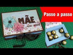 Como fazer | Caixa scrap bombom | Caixa livro | Tutorial | PAP - YouTube Altered Art, Box, Frame, Crafts, Youtube, Home Decor, Facebook, Scrapbooking, Presents For Mummys
