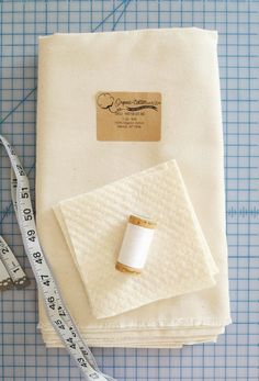 Supplies To Create Coasters With Organic Twill From Organic Cotton Plus