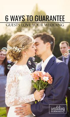 6 Ways To Guarantee Guests Love Your Wedding ❤ Your #wedding day will be one of…