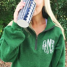 A Monogrammed Quarter Zip Sweatshirt from United Monograms is the PERFECT gift this Holiday Season! Personalized Gifts are so special to give and receive! #Monograms