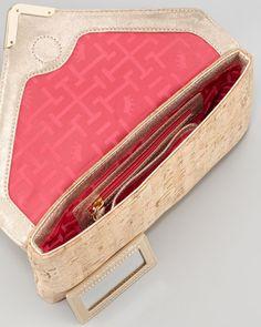 Bella Cork Envelope Clutch Bag, Natural
