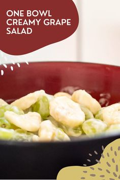 This creamy grape salad is perfect for a toddler snack! Made with only a few ingredients this quick snack comes together in minutes! Meal Salads, Grape Salad, Delicious Dinner Recipes, Quick Snacks, How To Make Salad, Healthy Salad Recipes, Side Dish Recipes, Vegetable Recipes, Clean Eating