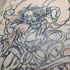 raijin tattoo template