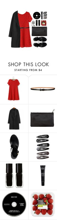 """""""yoins"""" by vogueordie ❤ liked on Polyvore featuring H&M, Balenciaga, Clips, The New Black, MAKE UP FOR EVER, women's clothing, women, female, woman and misses"""