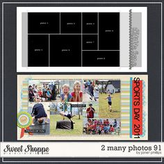 Sweet Shoppe Designs :: Templates & Tools :: Layout Templates :: 2 Many Photos 91 by Janet Phillips