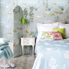 Want to create a calming bedroom scheme? Then check out our duck egg bedroom ideas before you even think about raising a paint brush Metal Room Divider, Living Room Divider, Cozy Bedroom, Bedroom Decor, Bedroom Ideas, Dream Bedroom, Pretty Bedroom, Blue Bedroom, Master Bedroom