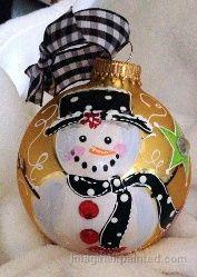 Handpainted Christmas Ornaments