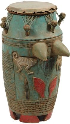 Full Details for Lot 662 -Thomaston Auction African Drum, African Life, Instruments, Mediums Of Art, Science Illustration, Eagle Tattoos, Music Images, Soul Art, African Masks