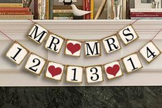 Hey, I found this really awesome Etsy listing at https://www.etsy.com/listing/162452611/mr-mrs-banner-save-the-date-banner