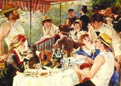 """The Boating Party""  Pierre  Renoir  1890s"