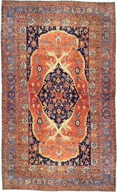 Persian Heriz Serapi, late 19th century