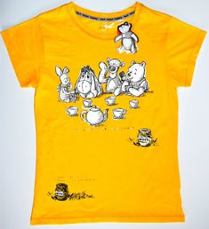 4244ae47a WINNIE THE POOH T SHIRT PRIMARK HUNNY DISNEY Womens 100% COTTON UK Sizes  4-24