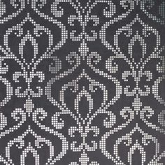- Wallpaper - Black - Transitional - Contemporary - Geometric - Metallic - Damask