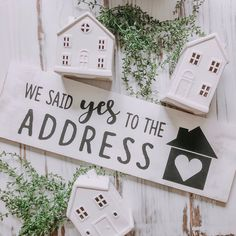We Said Yes To The Address Wood Sign // First Home // Realtor Sign // Home For Sale // Just Closed // Photo Prop // Home buyer / closing day Buying First Home, First Time Home Buyers, Home Buying, Real Estate Career, Real Estate Tips, Home Design, First Home Pictures, Jouer Au Poker, Realtor Signs
