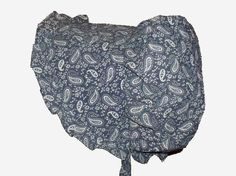 SUN17 Sunbonnet Blue Denim Paisley by GrandmasGirl on Etsy Great for cooler climates and seasons.  Catalog number SUN17 @ http://www.grandmasgirl.com/Pages/Sunbonnets.aspx  © GrandmasGirl.com Handmade Practicalities for the Home and Family.
