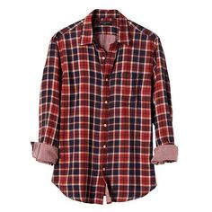 Banana Republic Men Standard Fit Double Weave Red Plaid Shirt (125 RON) ❤ liked on Polyvore featuring men's fashion, men's clothing, men's shirts, men's casual shirts, mens red shirt, mens tartan shirt, mens longsleeve shirts, mens long sleeve shirts and mens long sleeve plaid shirts